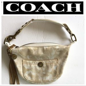 COACH BEIGE HAMPTON SMALL HOBO PURSE BAG